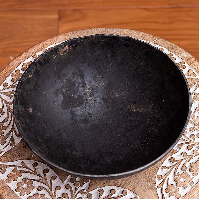 メヘンディボウル ヘナパウダーを混ぜる鉄鍋【約:18cm】 2 - 全体写真です