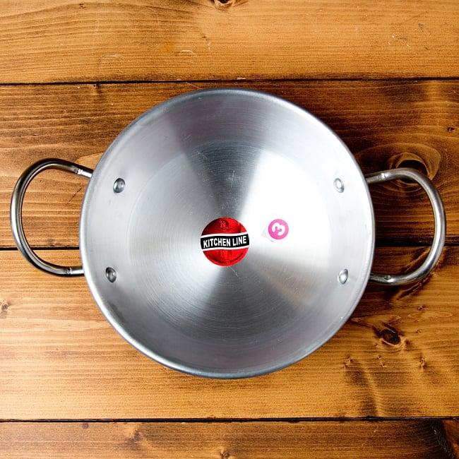 インドの食器&鍋 アルミニウム カダイ 【直径22cm】の写真2 - 上からの写真です