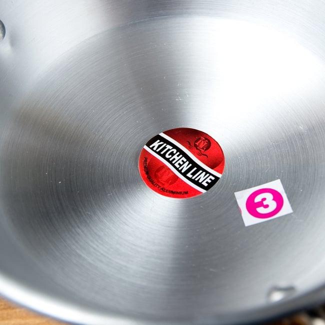 インドの食器&鍋 アルミニウム カダイ 【直径22cm】の写真4 - 横からの写真です