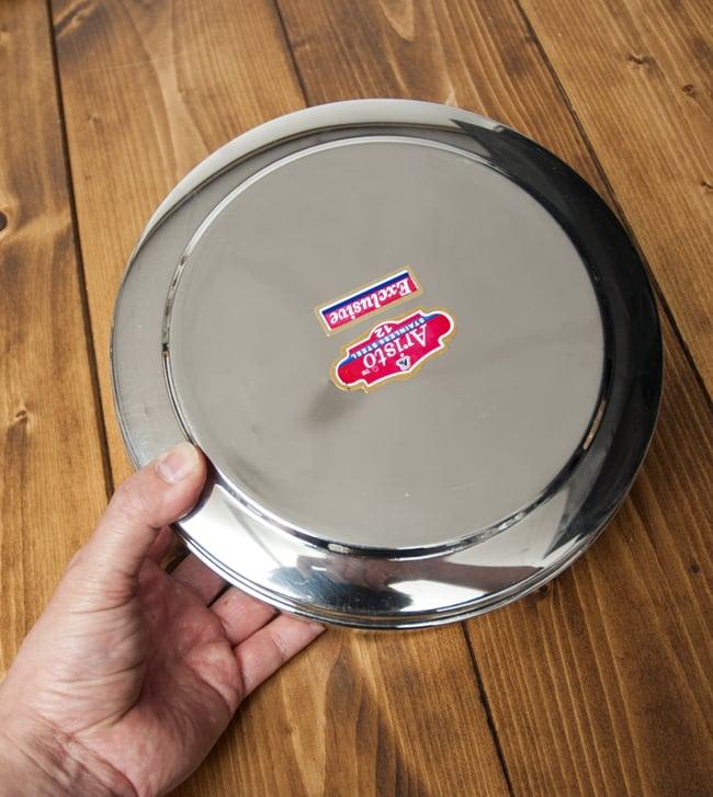 中ぶた付き 円形スパイスボックス[21cm] 9 - 全体はこのような大きさです。どっしりと安定感がありキッチン周りが映えます。