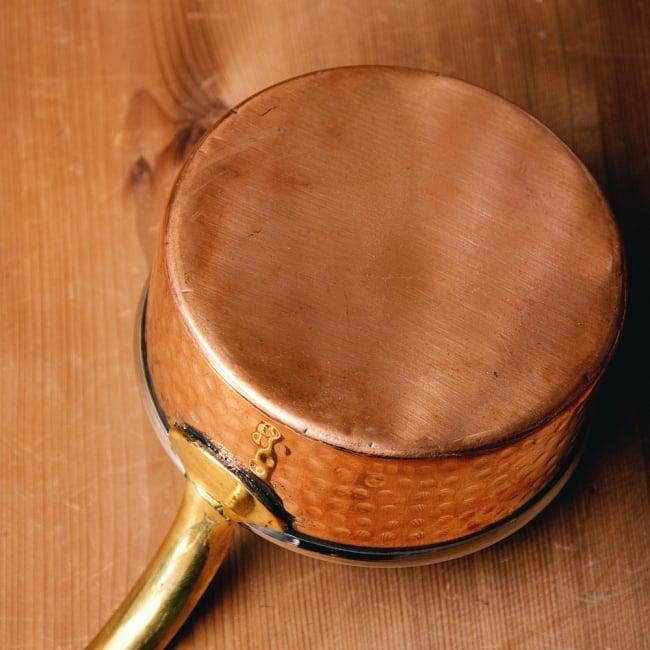 槌目付き 銅装飾のロイヤルソースパン(12.8cm×5.4cm) 8 - とにかく見た目が美しいです