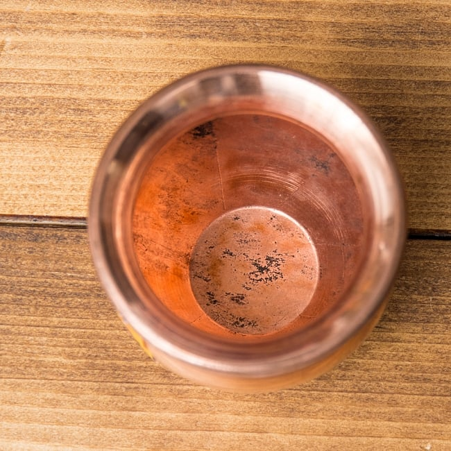 インドの水さし【銅】[7.5cm] 3 - 上からの様子です。