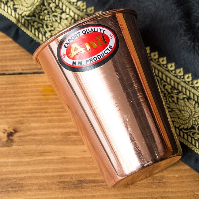 【祭壇用】銅製ラッシーグラス 【高さ:10.5cm】 2 - インド製品らしく、若干のムラはありますが、重さと雰囲気がいいです!上から撮ってみました