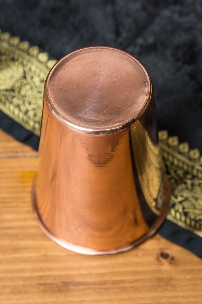 【祭壇用】銅製ラッシーグラス 【高さ:10.5cm】 5 - 底面の様子です。