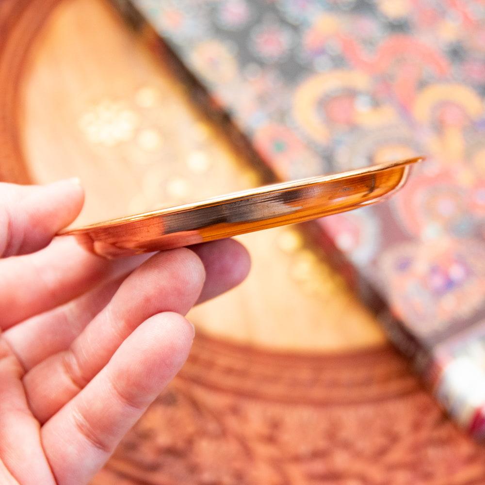 【祭壇用】銅製カトリ(小皿) 【直径:約10cm】 4 - 縁のぶぶんをみてみました。