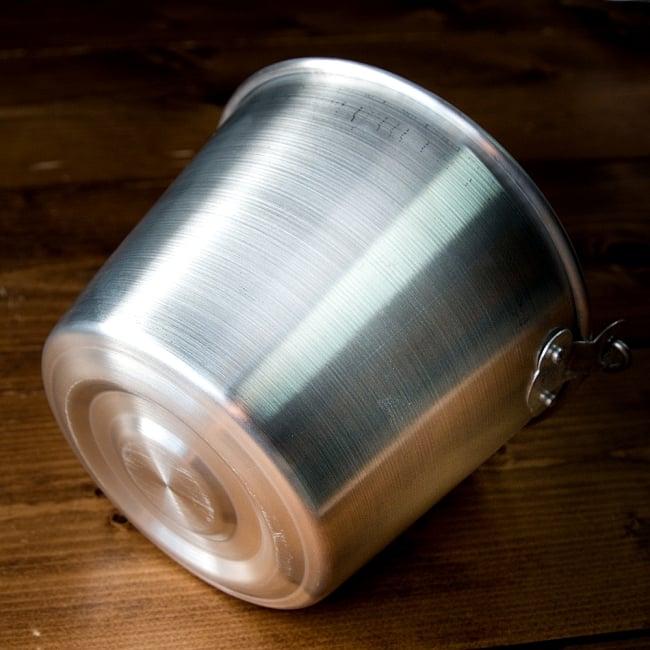 軽いアルミ製 タイの屋台アイスペール[約:14.8cm 1200cc] 5 - 横からの写真です