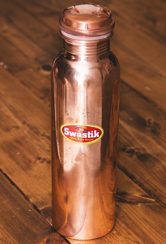 〔非飲料用〕アーユルヴェーダ 銅製ボトル 大〔約900ml〕 2 - 全体写真です