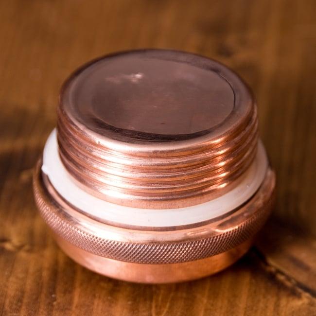 〔非飲料用〕アーユルヴェーダ 銅製ボトル 大〔約900ml〕 7 - 蓋の内側ももちろん銅製です