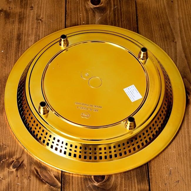 タイのお供え入れ 飾り皿 ゴールドとシルバー〔約31.5cm〕 6 - 裏面です