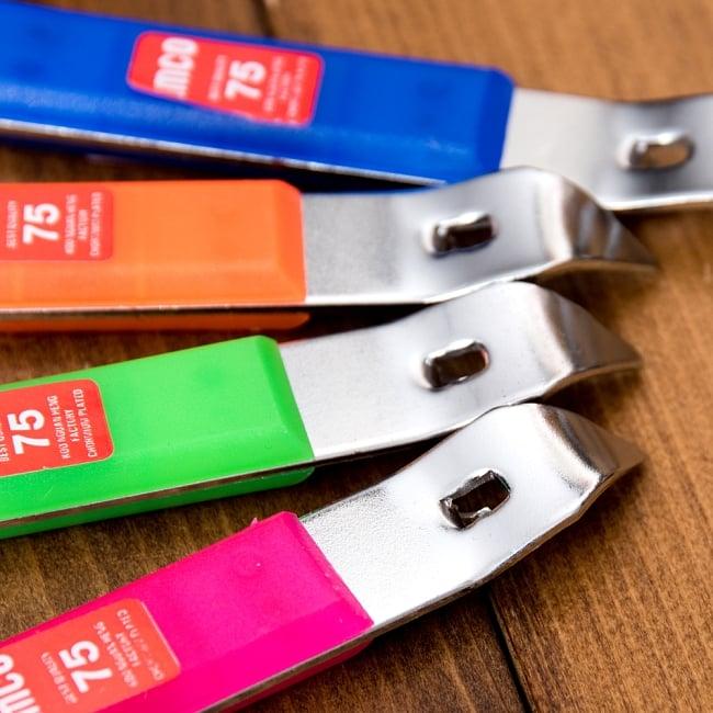 色彩豊かなタイの蛍光色オープナー 缶切り&栓抜き 3 - 反対側の写真です
