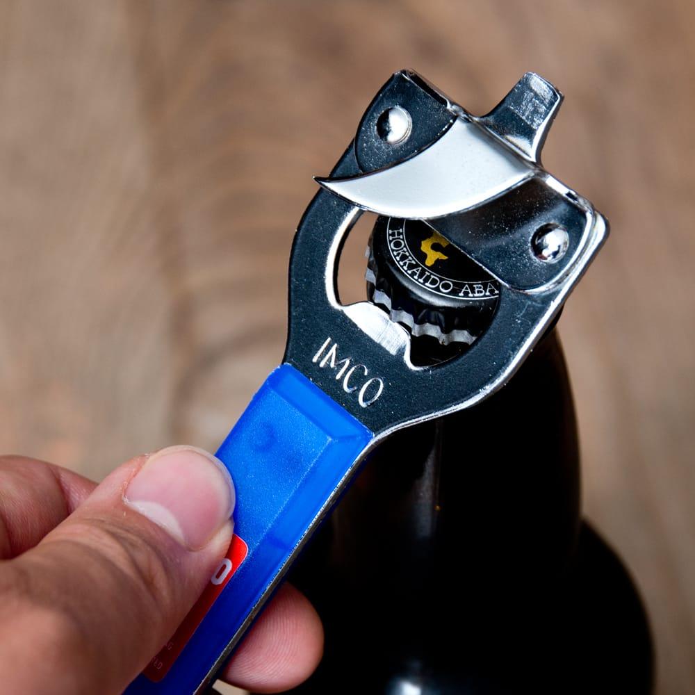 色彩豊かなタイの蛍光色オープナー 缶切り&栓抜き 7 - 缶切りも栓抜きも使えて便利
