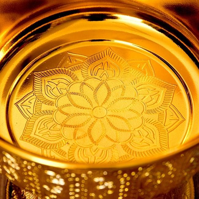 タイのお供え入れ 飾り器 ゴールドとシルバー〔高さ:約17cm 直径:約19.7cm〕 5 -