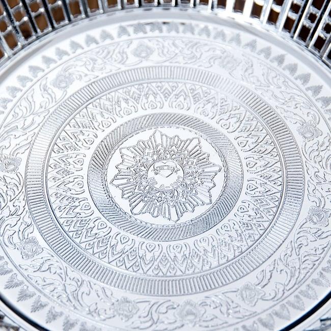 タイのお供え入れ 飾り皿 ゴールドとシルバー〔約23.5cm〕 5 - こちらも良い雰囲気です