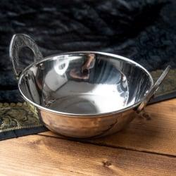 槌目仕上げのヘヴィステンレスカダイ (直径:約13.5cm)