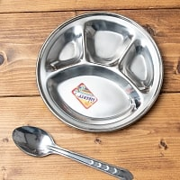 とっても小さい分割カレー丸皿 【19cm】
