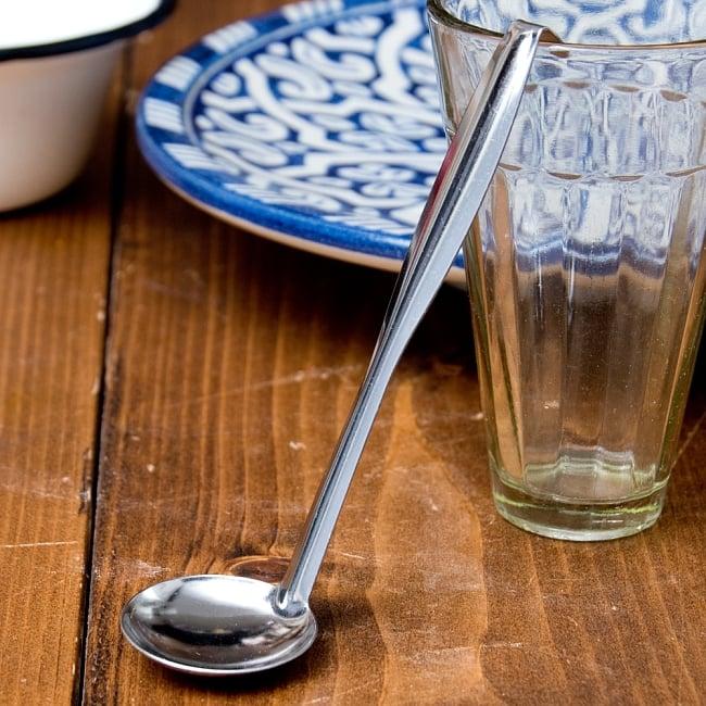 フック付きタイのミニお玉 約5ml 調味料をすくうのに便利の写真