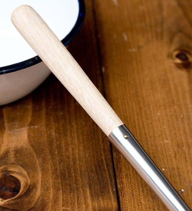 木柄タイのお玉 約50ml 調味料をすくうのに便利 5 - 熱くならないよう木の柄になっています