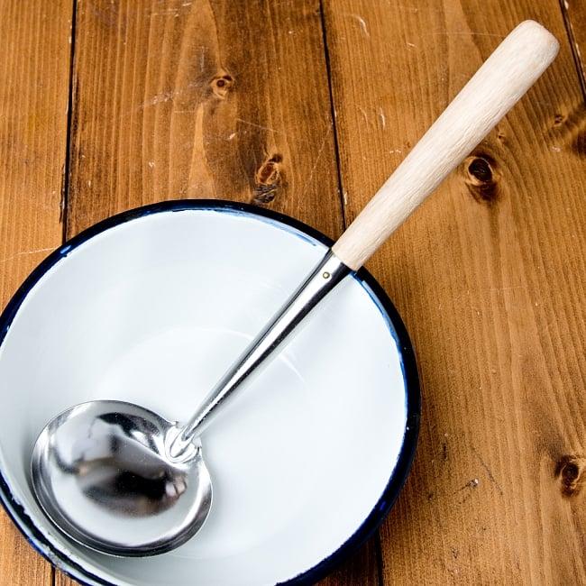 木柄タイのお玉 約50ml 調味料をすくうのに便利 1