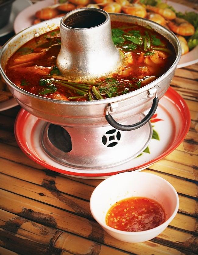 約20cm タイスキ・トムヤム鍋 モーファイ 火鍋子 2 - 類似品の使用例です。このように使われています。