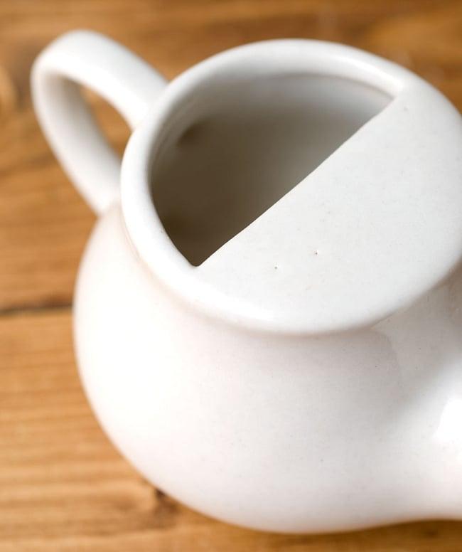 陶器のネティポット(鼻水差し)[ 長さ:約17cm 高さ:8cm] 3 - ここから水を入れます