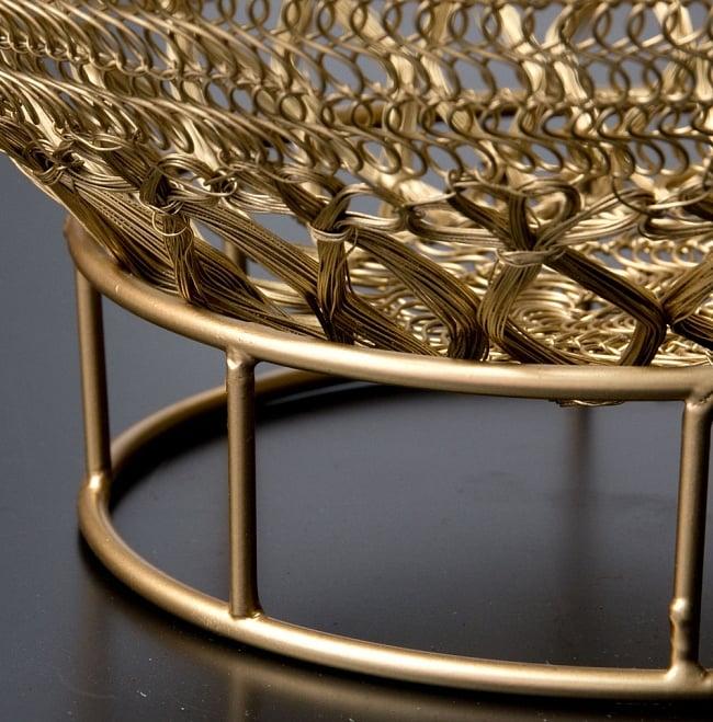 金色のメタルワイヤー飾り皿[直径:30cm] 11 - ワイヤーディッシュと、ワイヤープレート用置き台を一緒に撮影しました