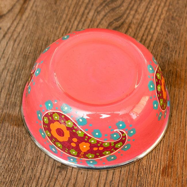 手描きカシミールペイントのカトリ・カレー小皿[直径:10cm x 高さ:3.5cm ] - ピンクペイズリー 3 - 反対面の写真です