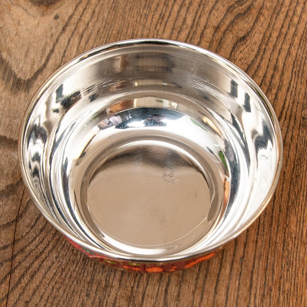 手描きカシミールペイントのカトリ・カレー小皿[直径:10cm x 高さ:3.5cm ] - ピンクペイズリー 4 - 拡大写真です