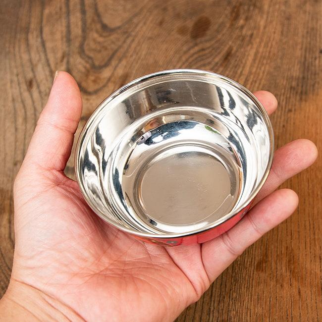 手描きカシミールペイントのカトリ・カレー小皿[直径:10cm x 高さ:3.5cm ] - ピンクペイズリー 5 - 縁の部分です