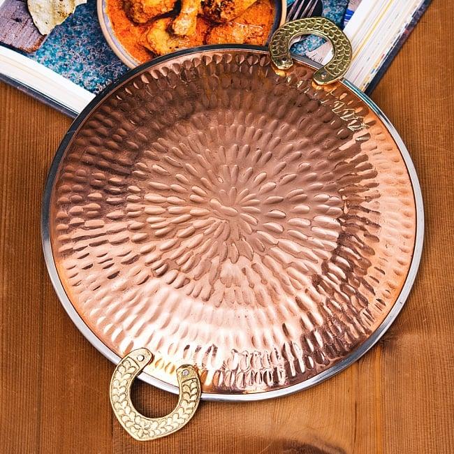 タヴァ槌目仕上げ チャパティやローティ用のフライパン(直径:約23cm)の写真