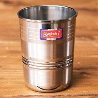 ステンレスのチャイカップ[直径約6.6cm×高さ約8.6cm]