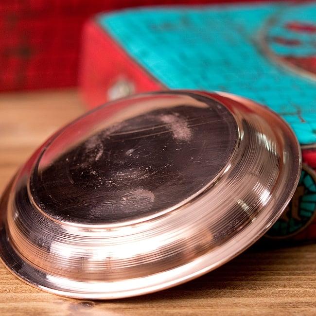 【祭壇用】銅製カトリ(小皿) 【直径:約6.7cm】 4 - 別の角度からの写真です