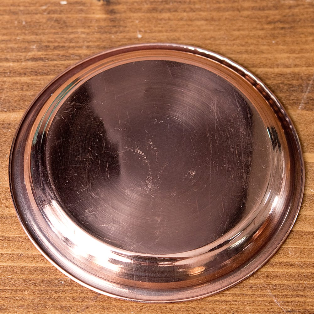 【祭壇用】銅製カトリ(小皿) 【直径:約10.5cm】 3 - 裏面の様子です。