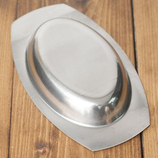 薄手のオーバルプレート【小】[20.5cm]の写真3 - シンプルを極めたデザインです
