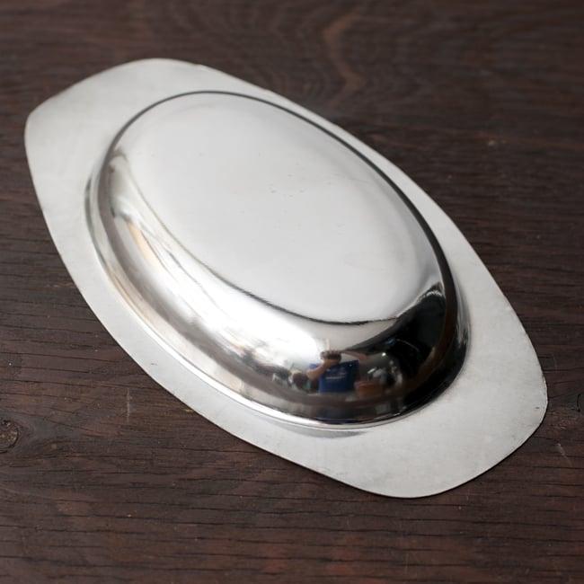薄手のオーバルプレート【特小】[18cm]の写真3 - シンプルを極めたデザインです