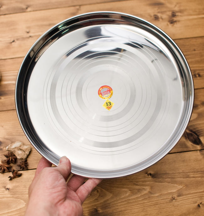 カレー大皿 [約32.5cm]-重ね収納ができるタイプ 4 - 裏面はスッキリシンプルです。