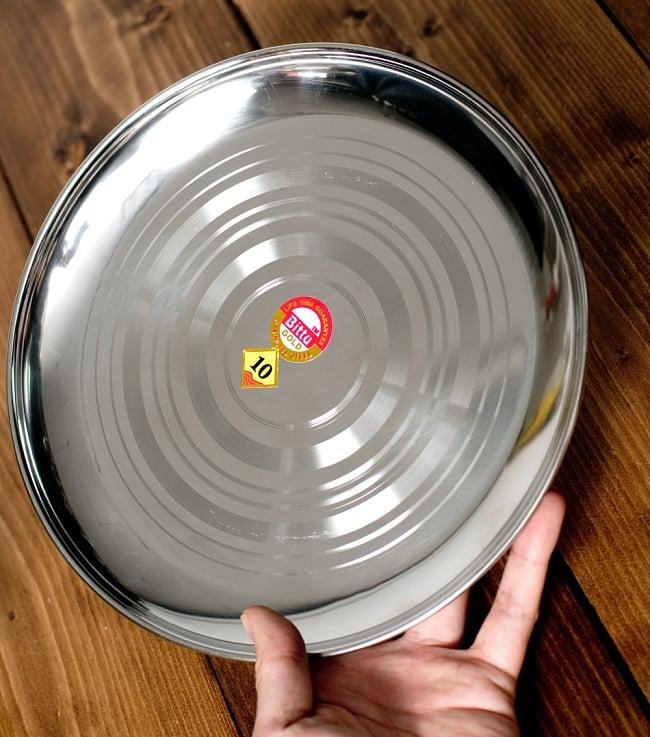 カレー皿 [約23.5cm] - 重ね収納ができるタイプの写真5 - このくらいのサイズ感になります