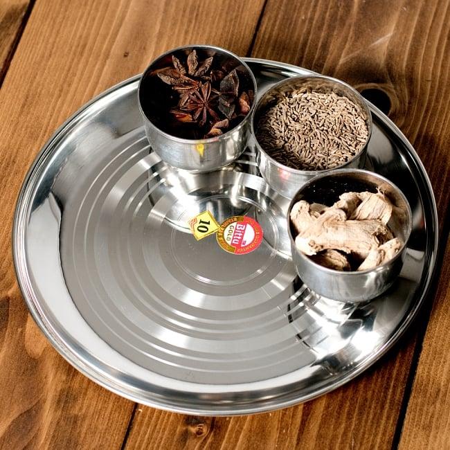 カレー皿 [約23.5cm] - 重ね収納ができるタイプの写真