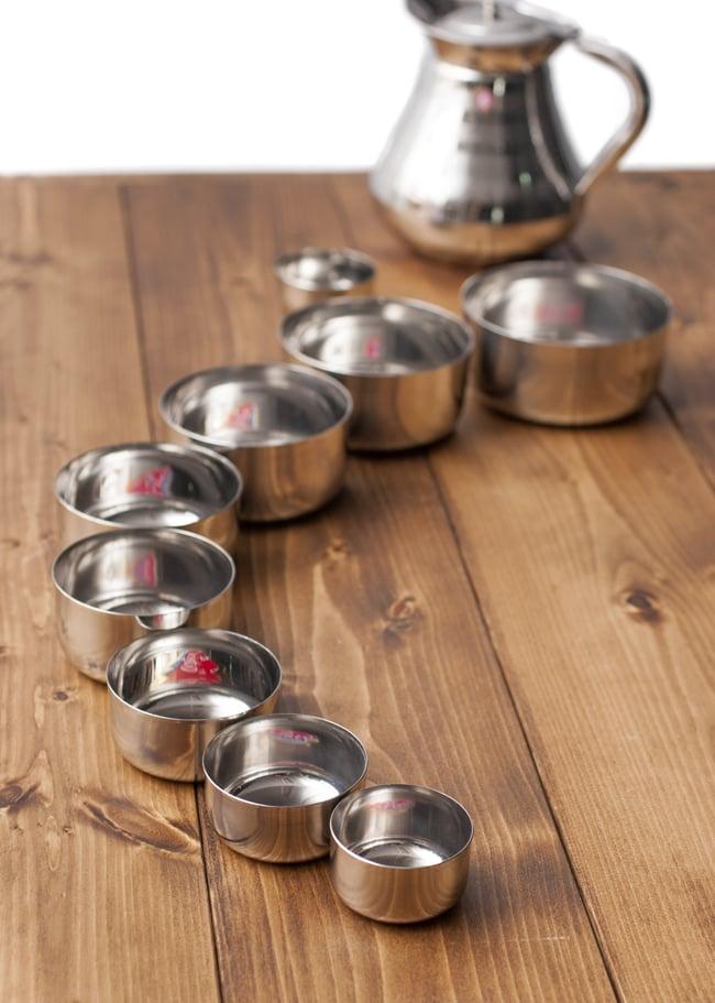 カレー小皿(約6.9cm×約3.3cm)小サイズ ライタカトリの写真8 - テーブルコーディネイトをお楽しみください。