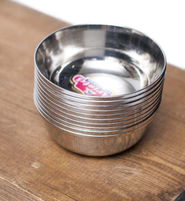 重ねられるカレー小皿 アチャールカトリ(約6.5cm×約2.3cm) 6 - 積み重ねができるので場所を取らず便利です!
