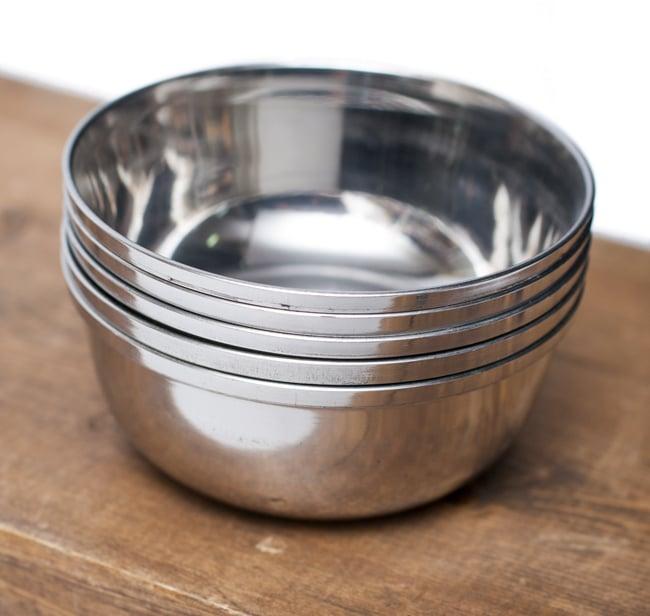 重ねられるカレー小皿 サブジカトリ(約7.8cm×約3cm)の写真6 - 積み重ねができるので場所を取らず便利です!