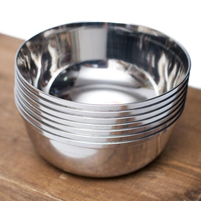 重ねられるカレー小皿 ダールカトリ(約9cm×約3.3cm)の写真6 - 積み重ねができるので場所を取らず便利です!