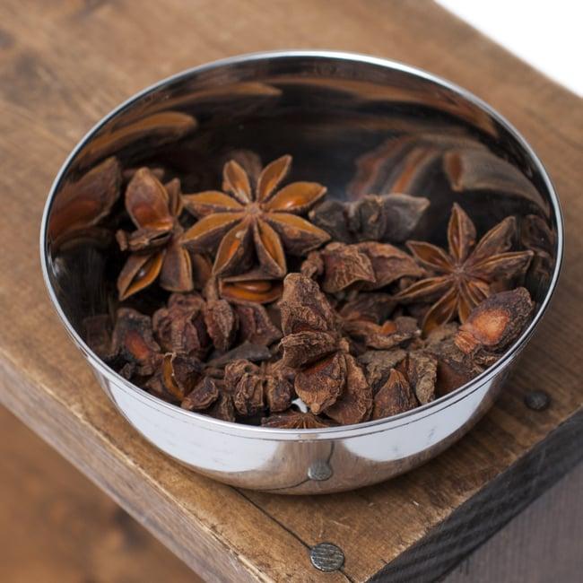 重ねられるカレー小皿 マサラカトリ(約9.7cm×約4cm)の写真4 - スパイスを入れてみました。