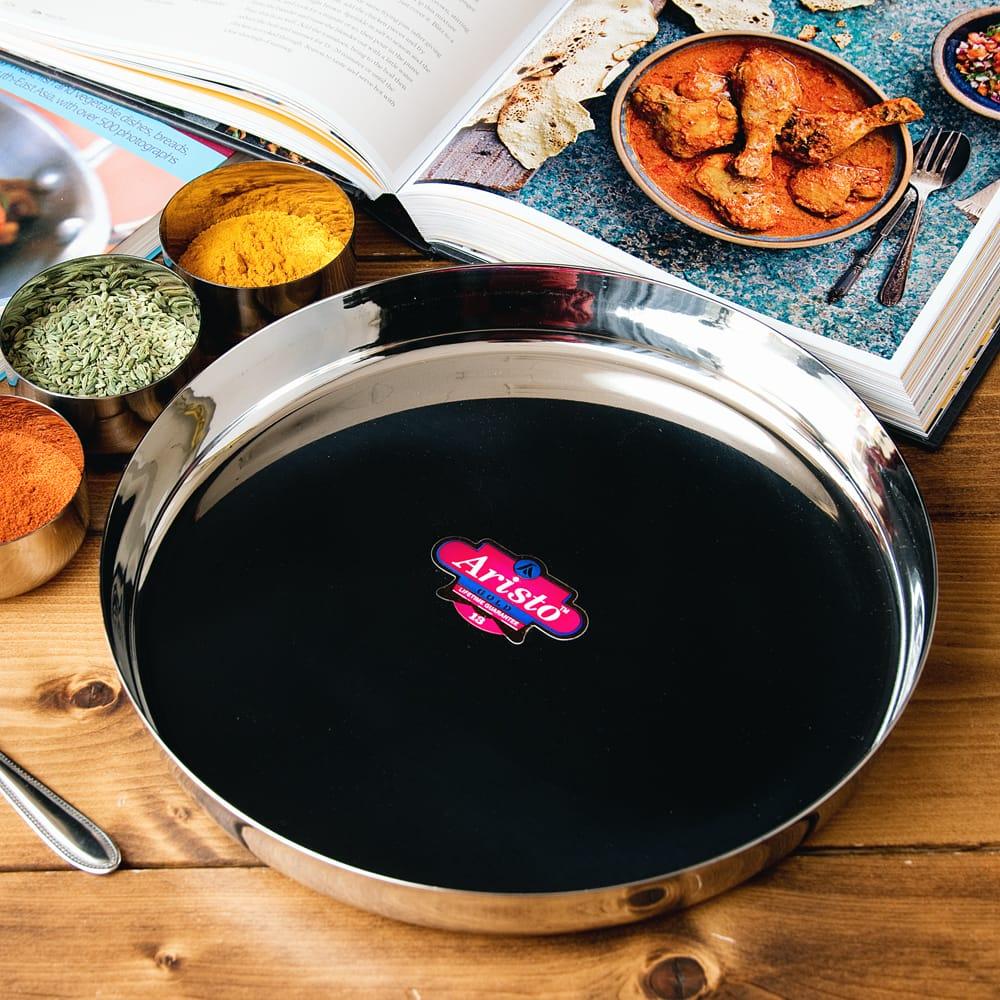 カレー大皿 [27.5cm]-重ね収納ができるタイプ 2 - カレー小皿などを置けばインド料理やさんみたいな雰囲気に