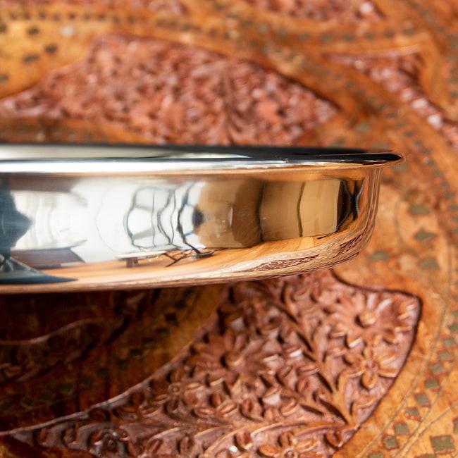 カレー大皿 [28.5cm]-重ね収納ができるタイプの写真4 - 裏面もシンプルで潔い感じです。