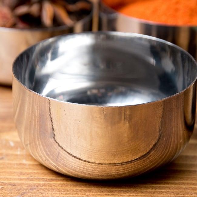 【訳あり・インド品質】カレー小皿(約8.3cm×約4.2cm 約200ml) 2 - 拡大写真です