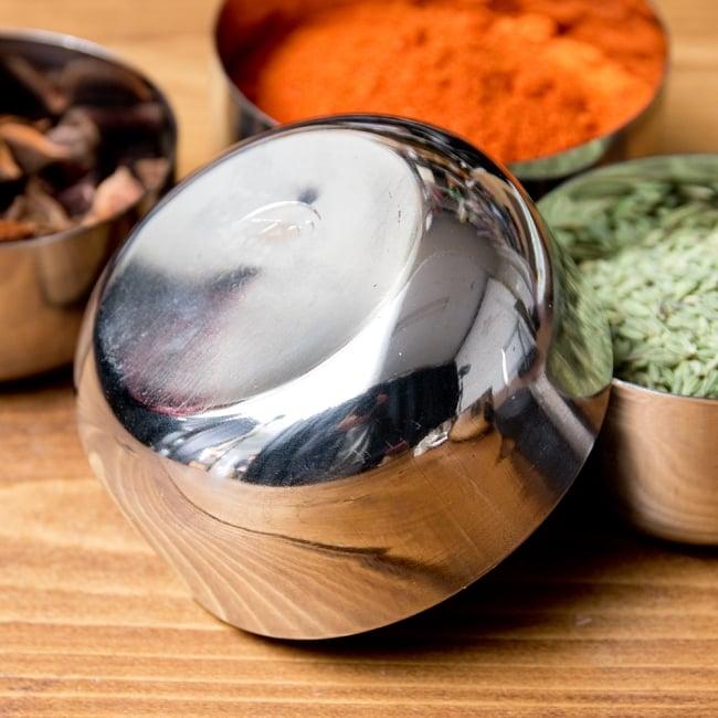 【訳あり・インド品質】カレー小皿(約8.3cm×約4.2cm 約200ml) 5 - 裏面の写真です
