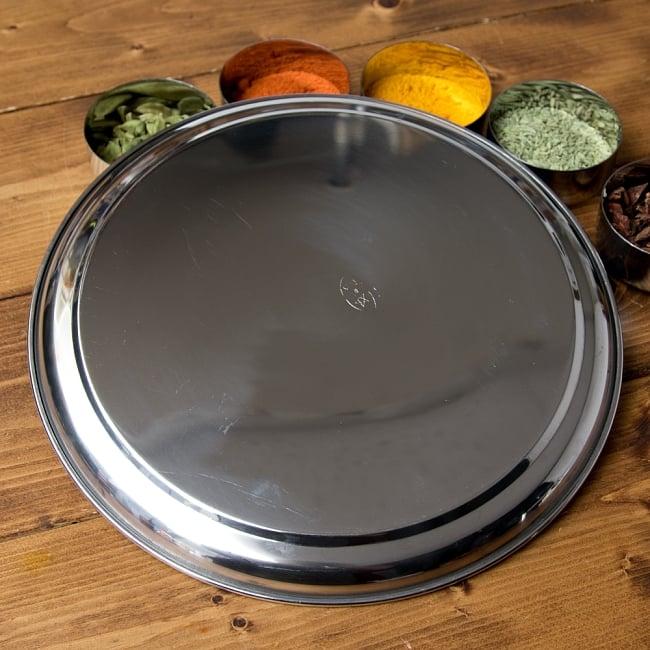 カレー大皿 No.12 [約28.5cm]-重ね収納ができるタイプ 4 - 裏面はスッキリシンプルです。