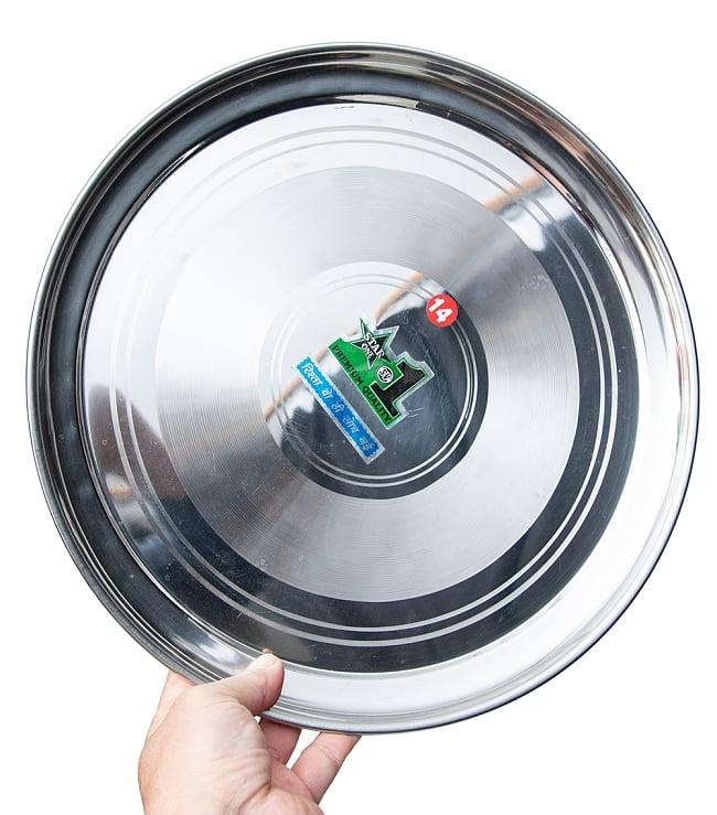 カレー大皿 No.14 [約33.5cm]-重ね収納ができるタイプ 5 - 手に取るとこれくらいのサイズ感になります。