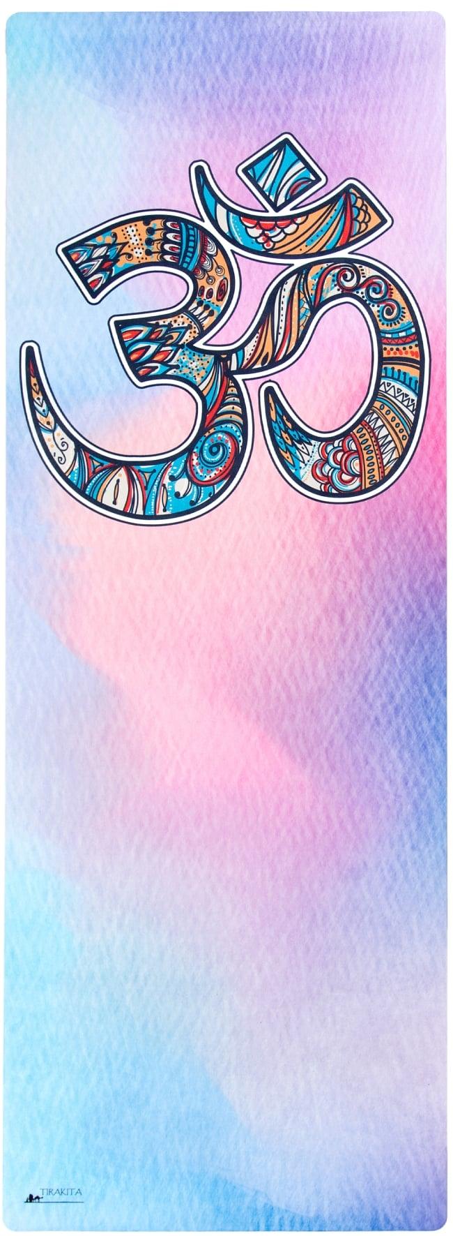(天然ゴム)高品質エスニックヨガマット4mm - OMシンボル 2 - エスニックなデザインが上品で可愛らしいです!