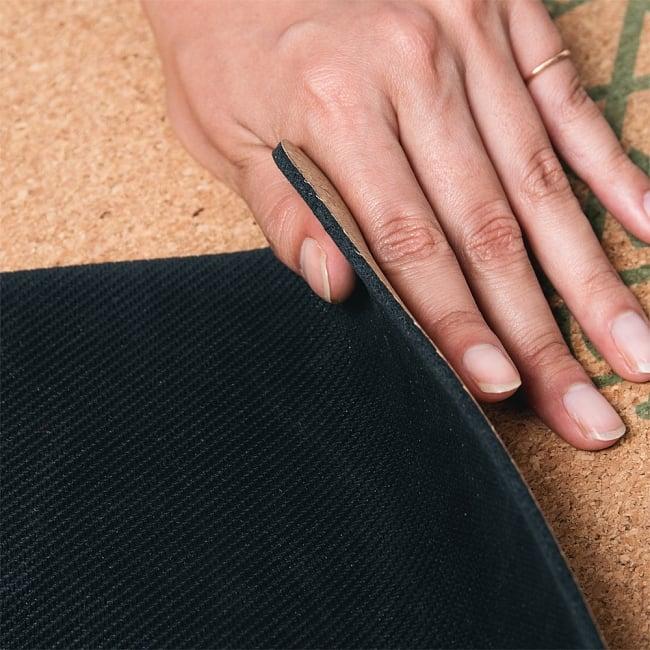 〔3mm〕高品質ナチュラルコルク ヨガマット〔天然ゴムと天然コルクのエコなヨガマット〕 - HAMSA with Color 14 - 裏面は特殊な滑り止め加工がされていて、全然滑らず快適です。